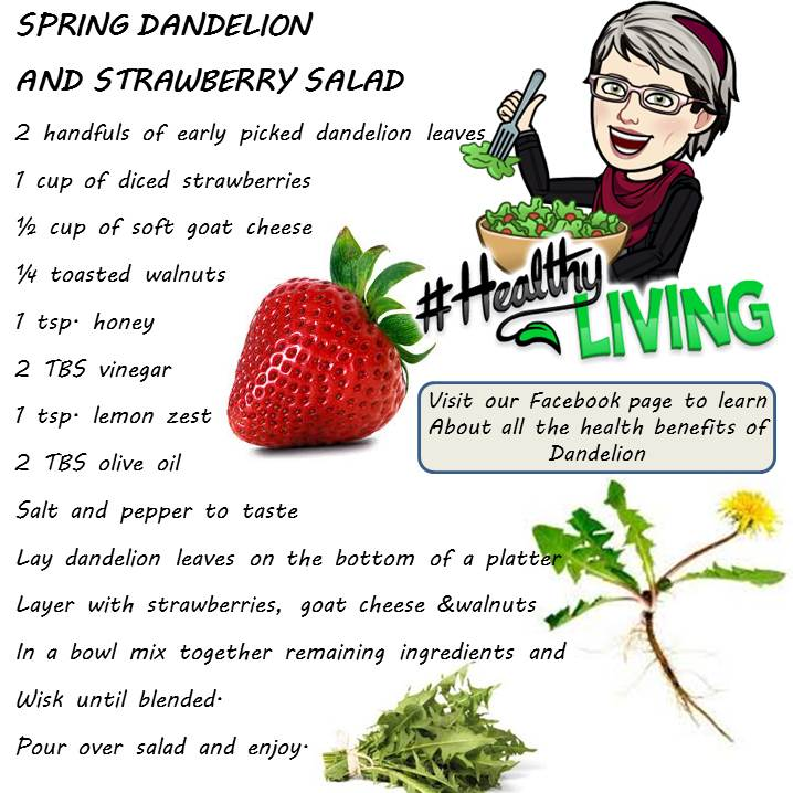 Spring Dandelion and Strawberry Salad